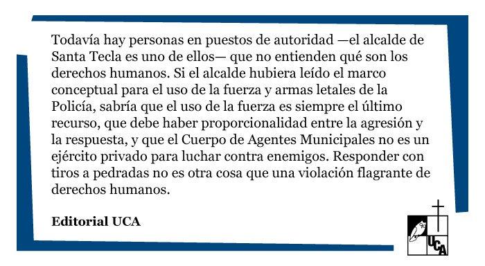 """RT @UCA_ES: #EditorialUCA: """"Balas contra piedras"""