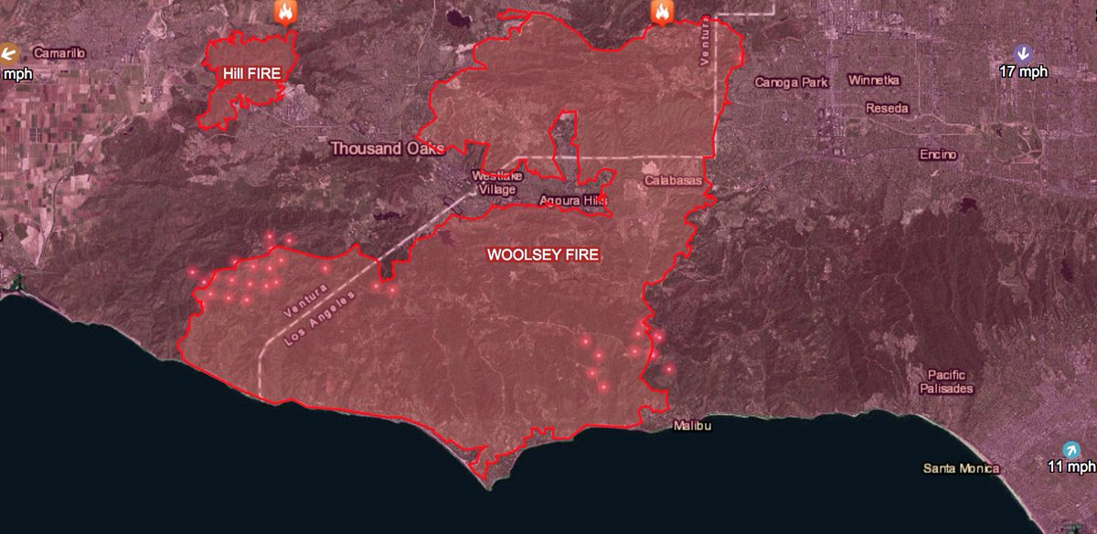RT @CityMalibu: Track where the #WoolseyFire is burning. Map at  https://t.co/c3GRmGPAku https://t.co/YUWh2BNzlD