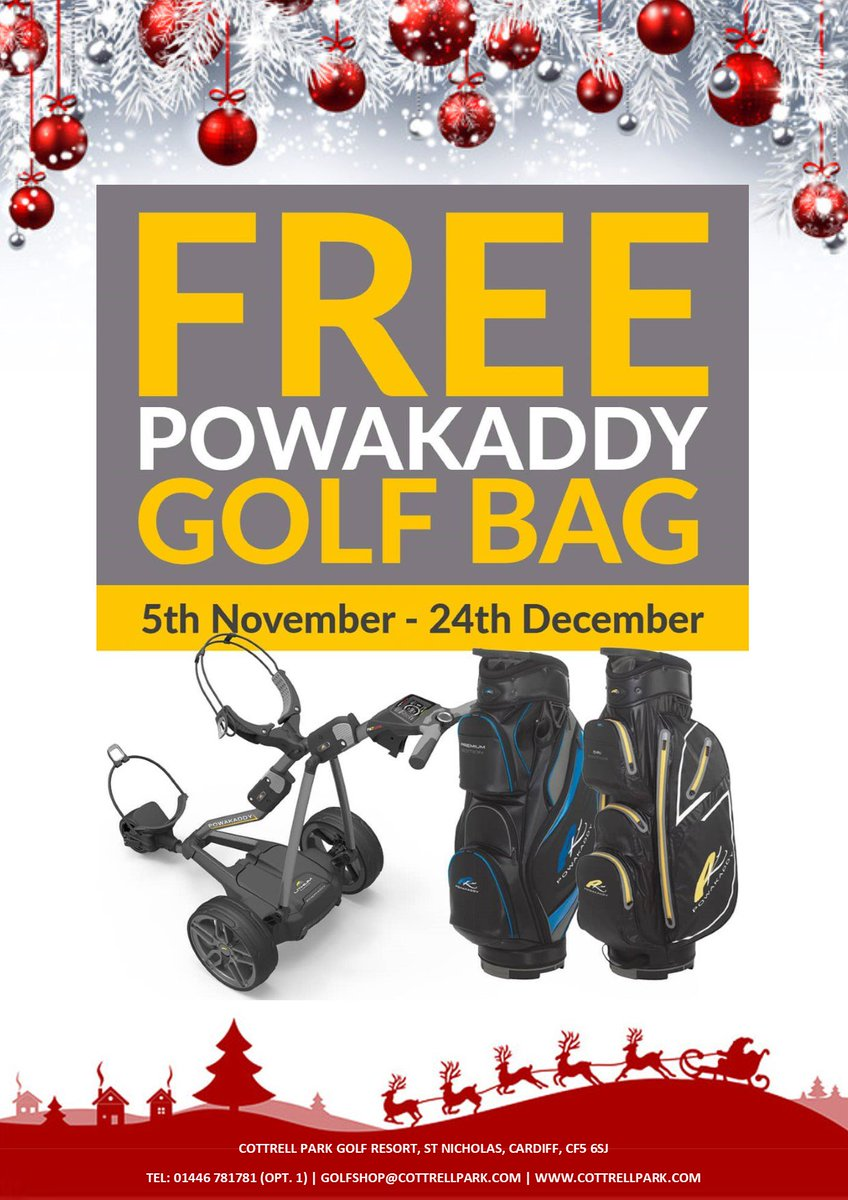 test Twitter Media - FREE @PowaKaddy_Golf #golf bag @CottrellParkLtd   Purchase any PK Lithium electric trolley and receive a PK golf bag worth up to £229* for FREE!!  *T&C's apply Free bag subject to PK model purchased Offer ends 24th December 2018  Tel: 01446 781781 or visit https://t.co/sjYK8ua007 https://t.co/edbpu0PM5x