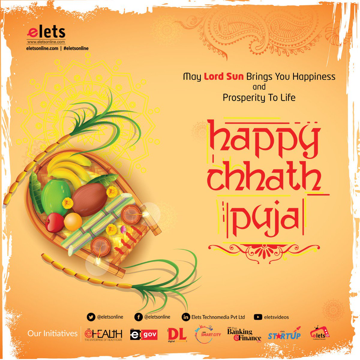 test Twitter Media - May Lord Sun brings happiness and prosperity to life ... Elets wishes Happy Chhath Puja to all!!!  #education #Chhathpuja  @eletsonline @chandananand26 @dubeyashutosh79 https://t.co/rS18YhDulG