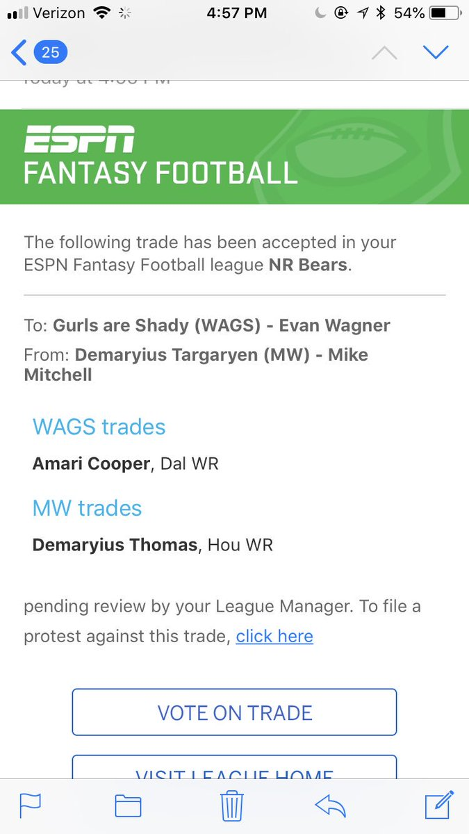 We have a trade,    @ewags_228 gets Demaryius Thomas  @Mike_Mitchell07 gets Amari Cooper https://t.co/E1t5dPOy2R