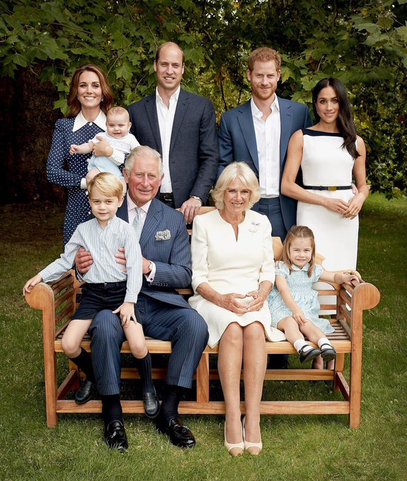 Two fantastic photos from to celebrate Prince Charles birthday - what a happy family!