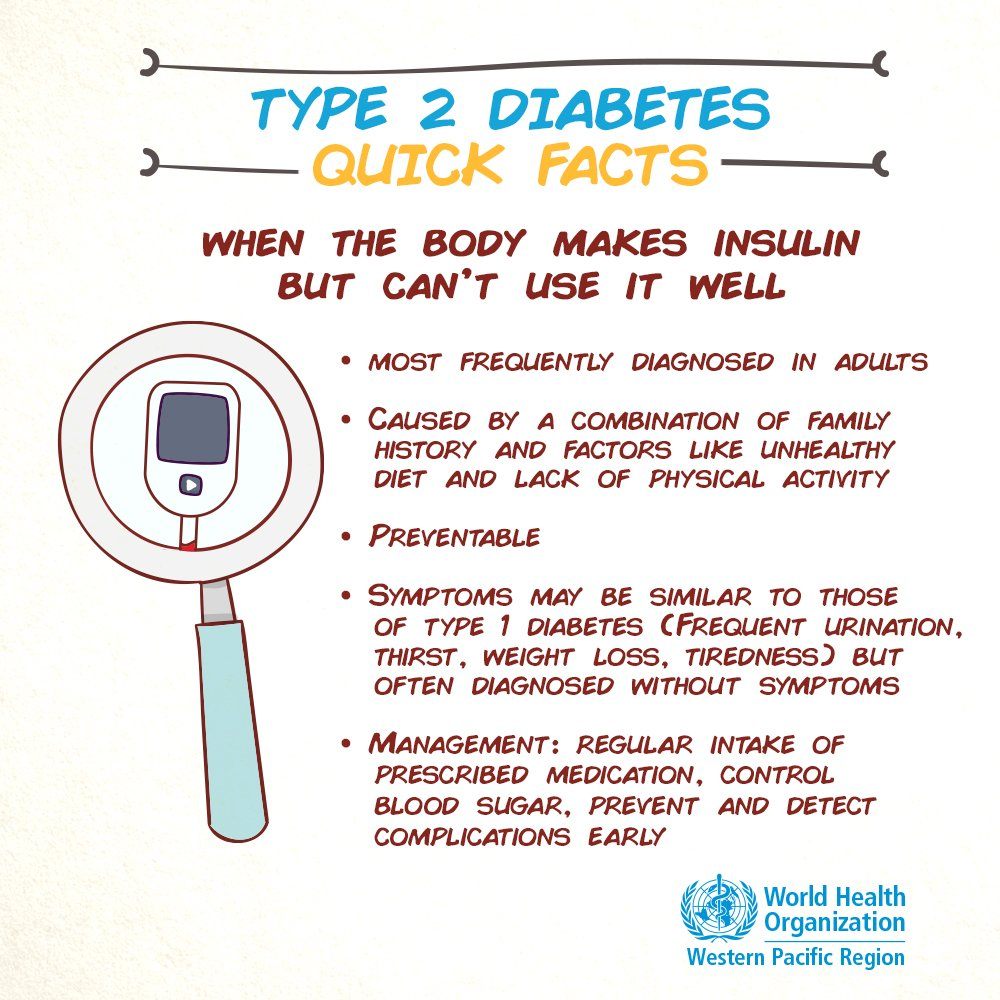 test Twitter Media - People with #diabetes have abnormally high blood sugar levels because their bodies aren't making enough insulin or can't use insulin well.   Over time, diabetes can lead to serious damage to the ❤️, blood vessels, 👁️, kidneys & nerves.   https://t.co/aWNsmqDv47 #WorldDiabetesDay https://t.co/fZtAbxJl6z