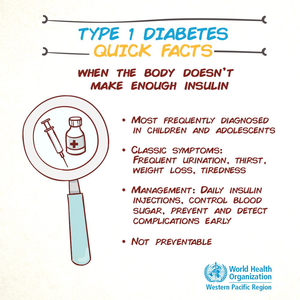 test Twitter Media - Type 1 #diabetes happens when the body doesn't produce enough insulin.   Symptoms of type-1 diabetes include:  🚽frequent urination 🥤thirst ⚖️weight loss 😫tiredness   Learn more: https://t.co/uvJpRteU0d #WorldDiabetesDay https://t.co/DYa652NMtm