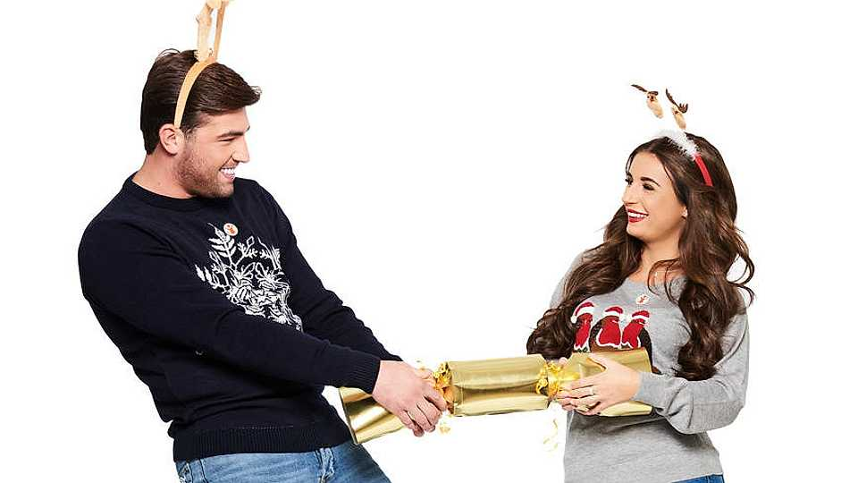Dani Dyer and Jack Fincham defy 'split' rumours and pose for charity Christmas shoot
