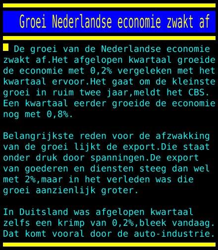 test Twitter Media - Groei Nederlandse economie zwakt af https://t.co/akeMzTYxSB