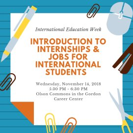 test Twitter Media - Free dinner + career advice for international students tonight at 5:30pm! Join staff from @WesCareerCenter and Office of International Student Affairs for an introduction to the job and internship process: https://t.co/OlwKdUz2YB #IEW https://t.co/7Gl6xGhlFh