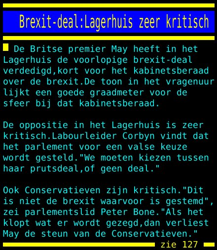 test Twitter Media - Brexit-deal:Lagerhuis zeer kritisch https://t.co/zBjx7qHVaS