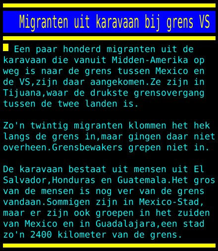 test Twitter Media - Migranten uit karavaan bij grens VS https://t.co/MGawbG3wNV