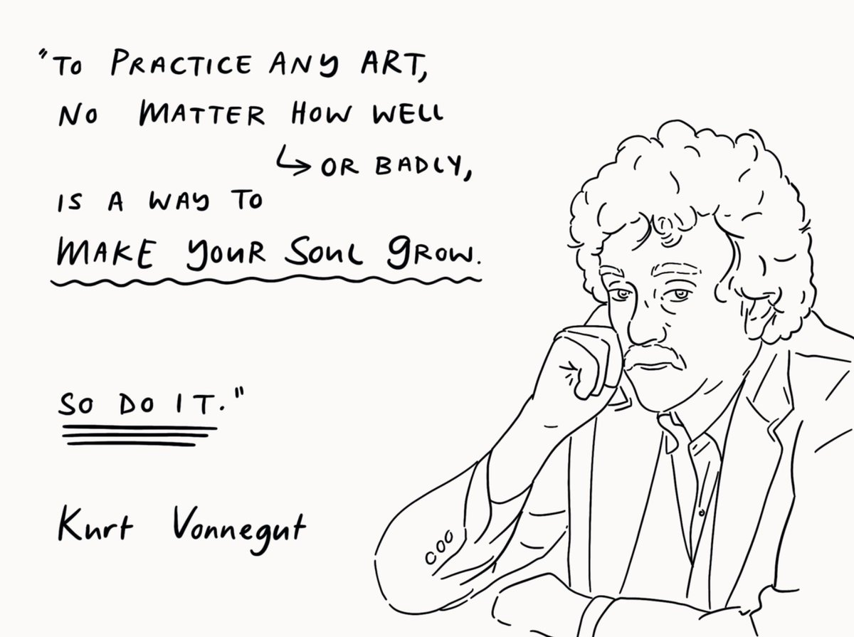 Co-signing this quote from Vonnegut.. https://t.co/BpjVq2m75W