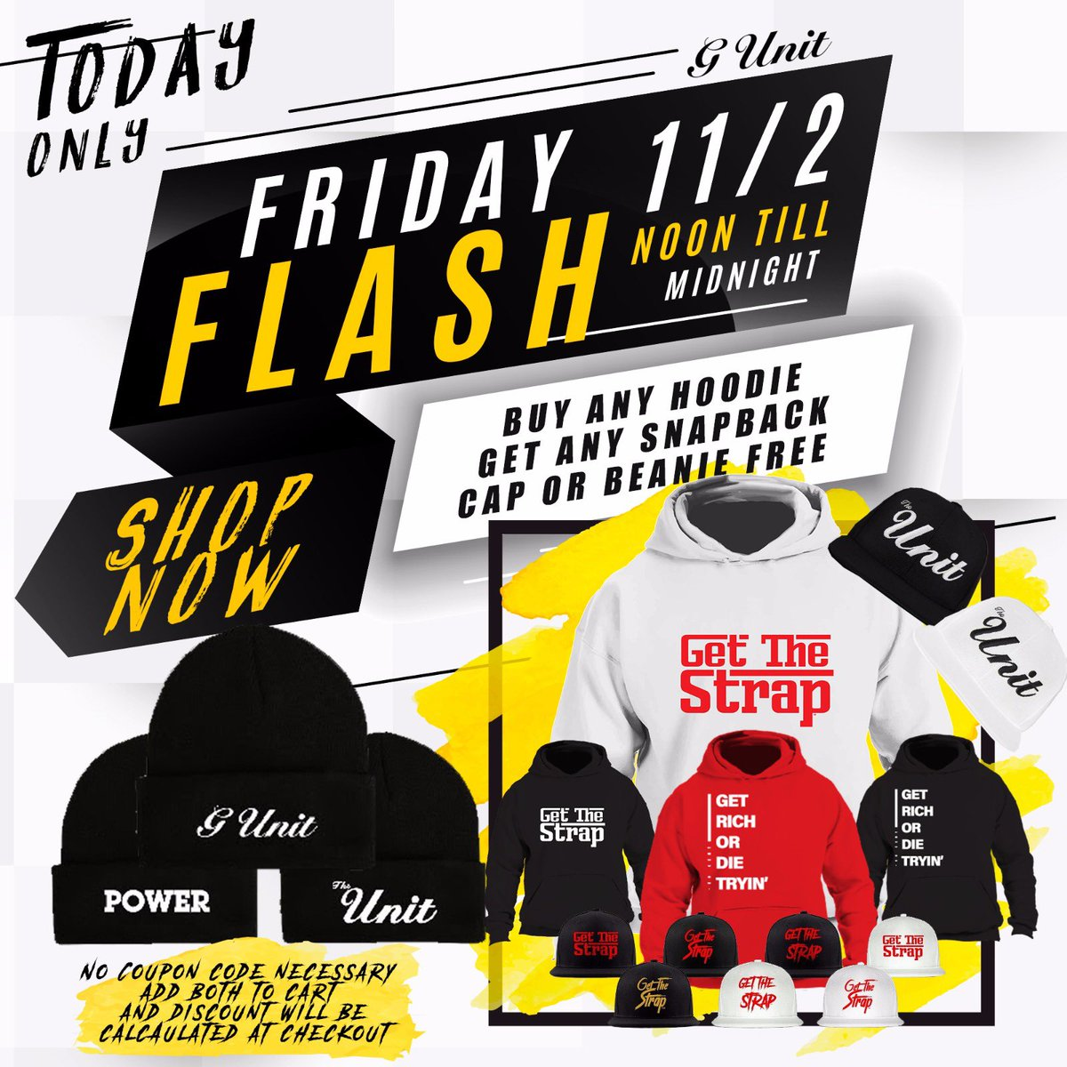 TODAY ONLY| Buy Any Hoodie & Get any SnapBack or Beanie FREE #FlashSale | https://t.co/fOHBnoBOTi https://t.co/FS5LBV1aqh