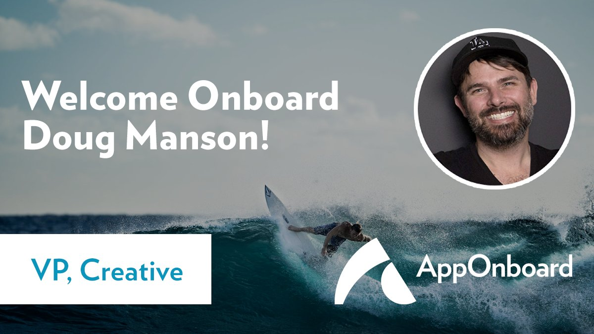We welcome Doug Manson, @frnsc, as VP Creative at AppOnboard! Doug brings 18+ years of #design, #UIUX, #video, #webdesign experience to the team. Welcome, Doug! #OneTeamOneDream #MoreDemosMorePlaces #HappyFriday #WelcomeToTheFam #AOBFam #NewHires https://t.co/SztJVd79QM