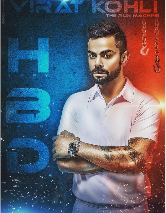 Happy Birthday Run machine virat kohli sir