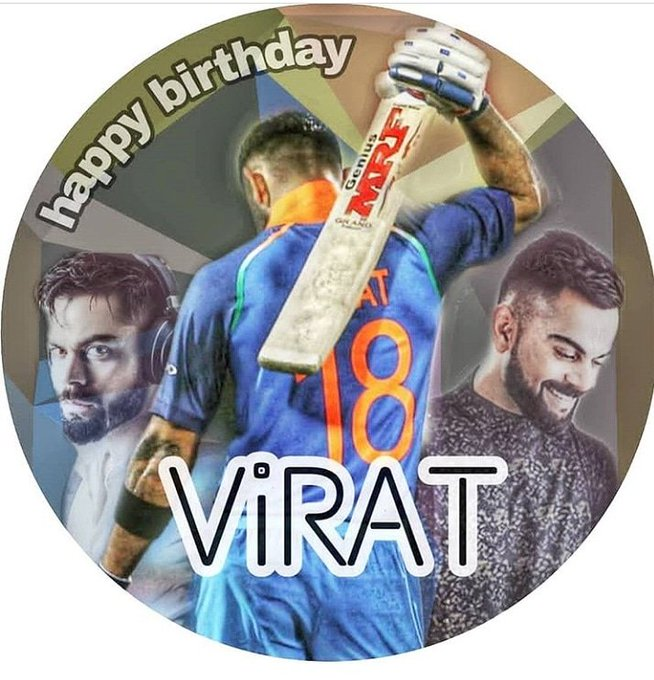 HAPPY BIRTHDAY LEGEND KING VIRAT KOHLI THE RUN MACHINE.