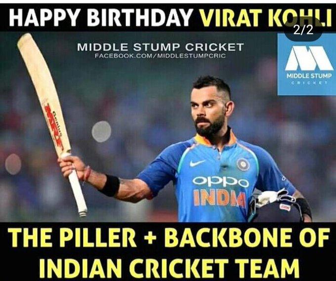 Happy birthday Virat kohli lots of wishes to you