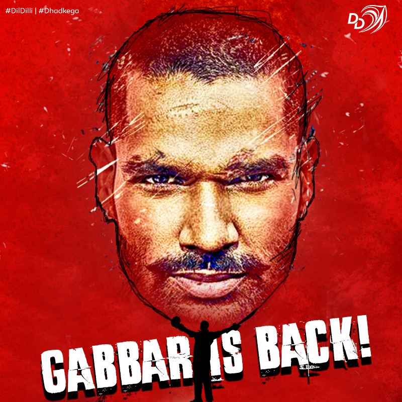 Brace yourselves, for he has returned, where it all began!  Welcome Home, Shikhar Dhawan. ??  #DilDilli #Dhadkega https://t.co/LFGMxs1bEk