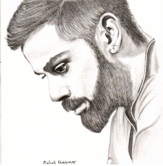 My Sketch :  Virat Kohli.. Happy Birthday !!!  Pls follow my Page