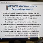 Why does @VAResearch need the #Women's Health Reaearch Network? This is a vital initiative in VA research.