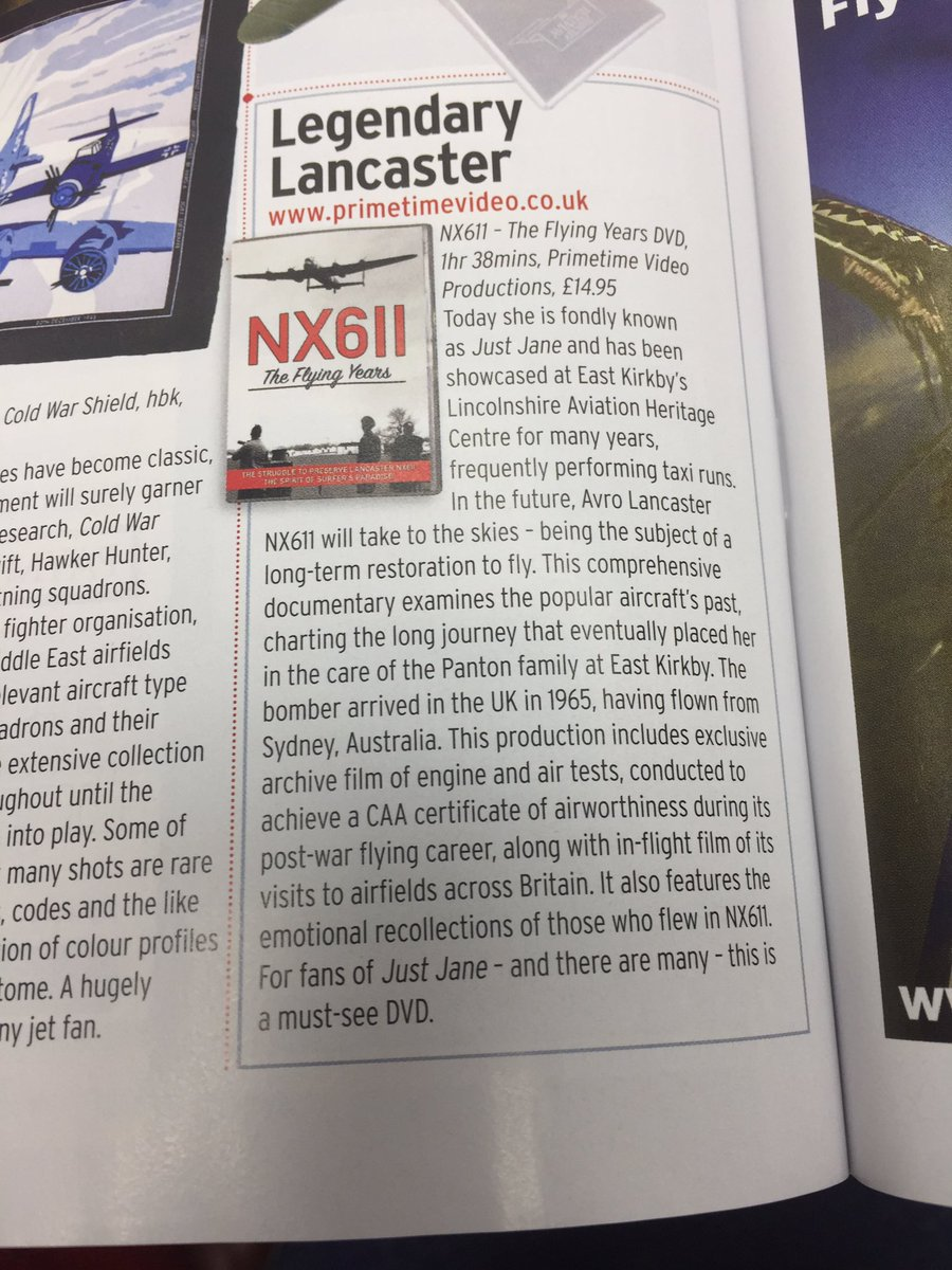 test Twitter Media - Primetime's NX611 DVD is in FlyPast magazine today. Make sure you get a copy for your Just Jane fan this Christmas! https://t.co/ffYnS8xhfI