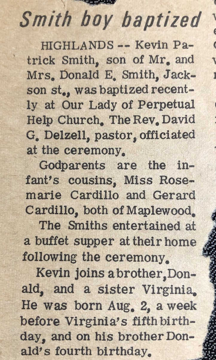 Slow News Day in 1970. Nobody had any idea that this Baptism would eventually lead to DOGMA... https://t.co/FyCAYvtiKm