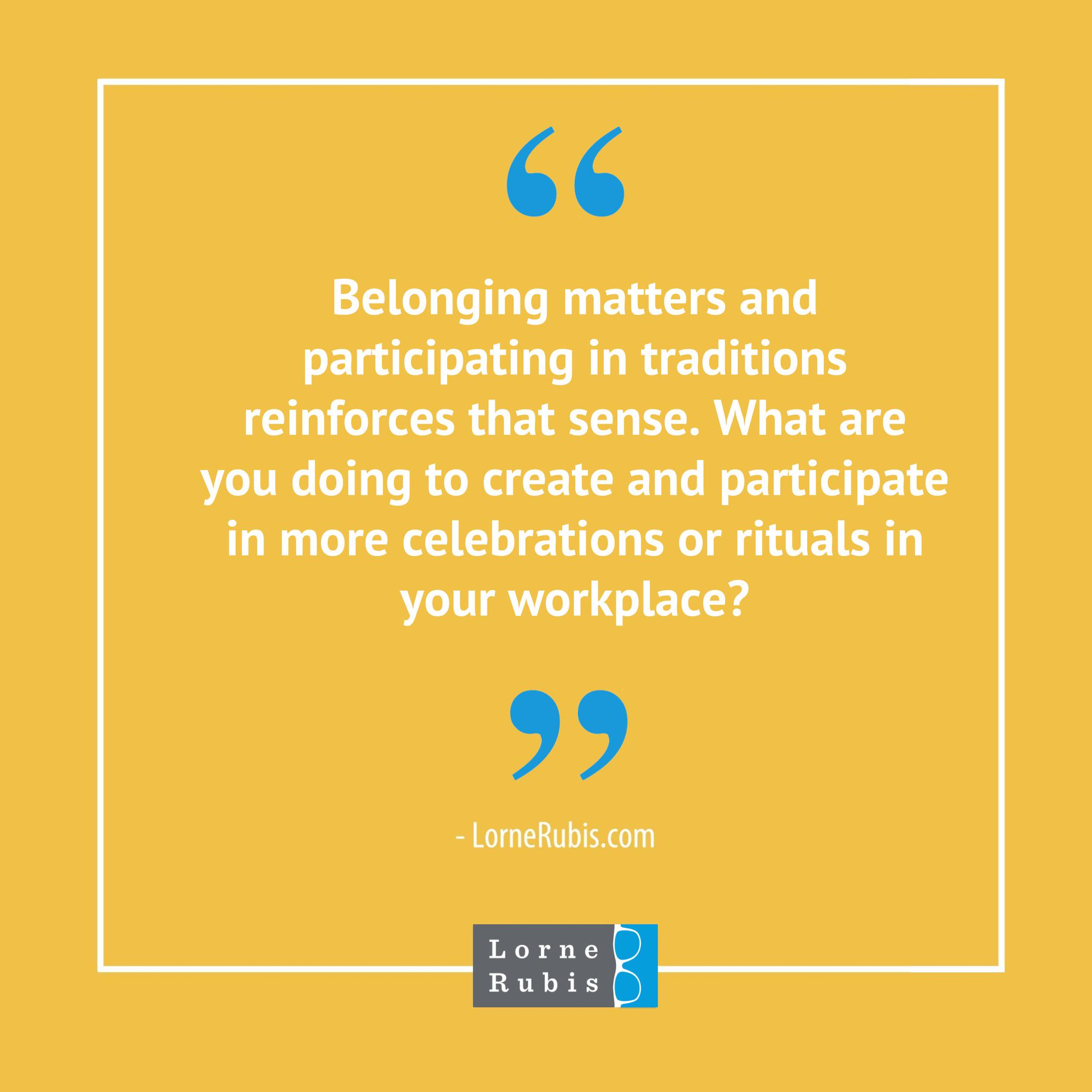 Tomorrow's blog is all about traditions and fun rituals at the workplace. Be sure to check it out when it publishes on Nov. 6. In the meantime, does your office offer any traditions or celebrations that bring joy and laughter to work? #WorkTraditions #FunatWork #CompanyCulture https://t.co/wlkahPdvdX