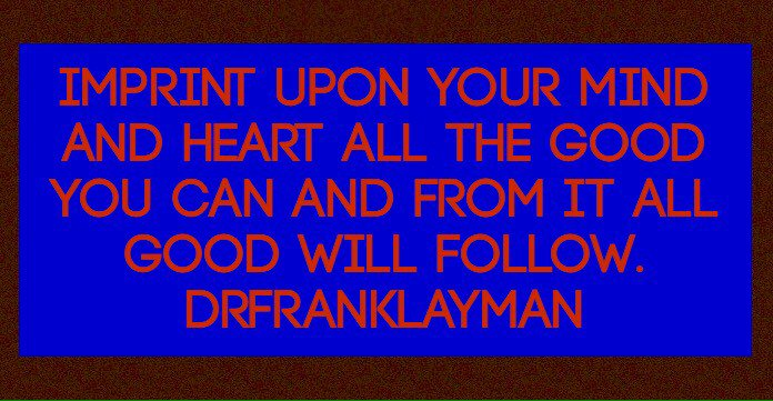 All. #DrFrankLayman #TuesdayThoughts #Rise https://t.co/p3glFxKQ8t https://t.co/xXsU26a0om https://t.co/nTHy3fMrCc https://t.co/AS64usD21F
