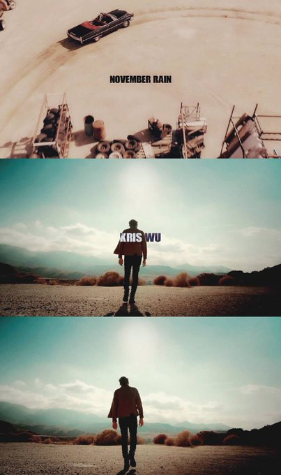 Kris Wu!!!!!The MV of November Rain is thebest gifts for us, for Meigeni!!!!Happy Birthday!!!My baby!!!!!!!