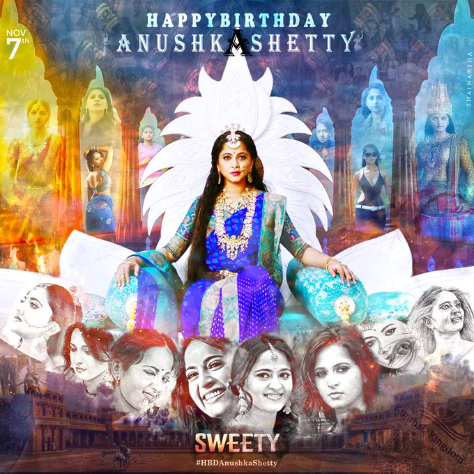 Many more happy birthday               Anushka Shetty