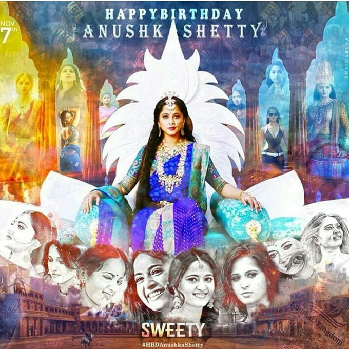 "Wishing ""QUEEN OF SOUTH INDIA\"" Anushka Shetty a very very happy birthday"