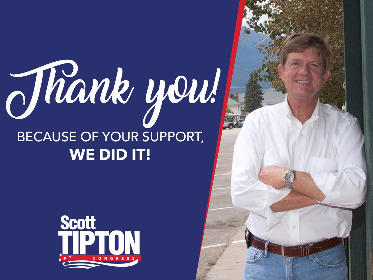 The 3rd District has been my home all of my life, and I'm honored to have earned the opportunity to continue representing Colorado in the United States Congress.