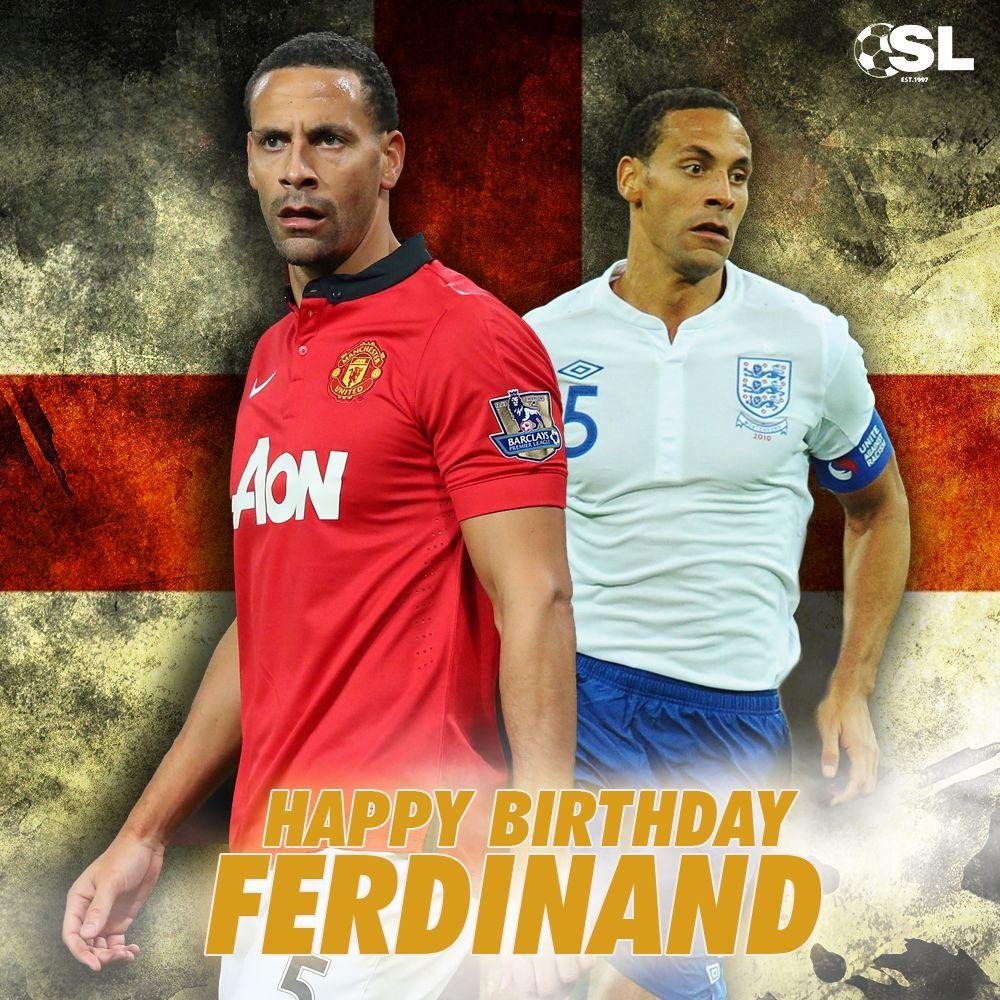| Happy Birthday to former Manchester United defender, Rio Ferdinand!