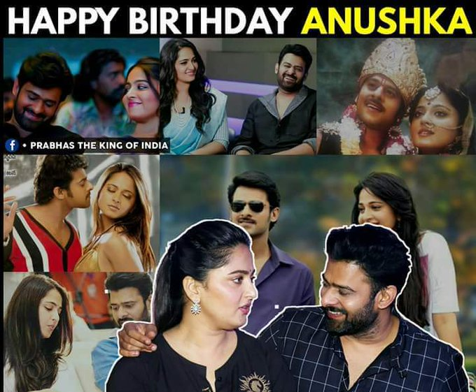 Happy birthday to you Anushka Shetty from prabhas fans