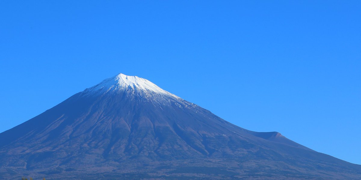 RT @mt3776fujisan: 久しぶりの富士山 雲ひとつなき #fujisan #富士山 11/15 2018 https://t.co/RFZMdyiXhA