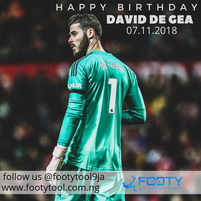 Happy birthday to the best goalkeeper in the world, Manchester United\s David De Gea turns 28 today.