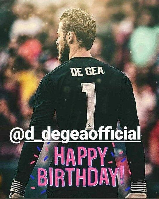 Happy Birthday David De Gea!  Save ManU Tonight Against Juventus.