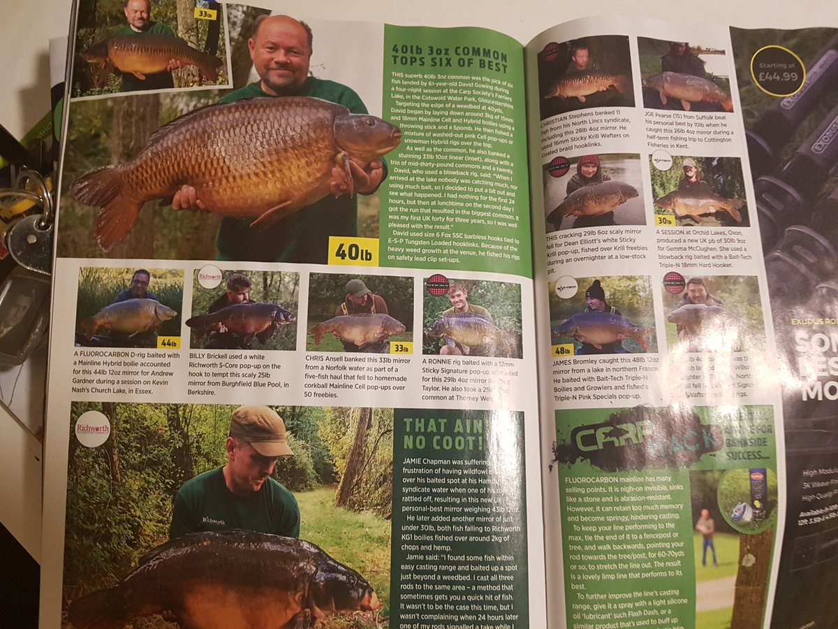 It's me! In @angling_times - how very exciting 😁😁 #<b>Girlpower</b> #carpfishing https://t.co/