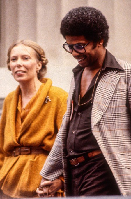 Happy Birthday Joni Mitchell [born November 7, 1943] pictured here with Herbie Hancock [1978] by Ed Perlstein