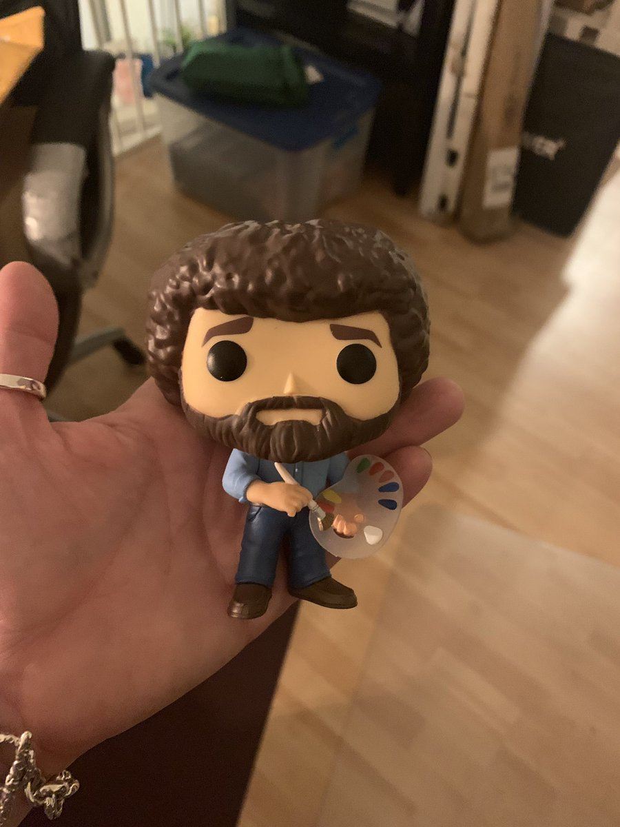 SO to for this dope #bobross #POP! Thank you! Love him! He'll sit next to my Amy Winehouse