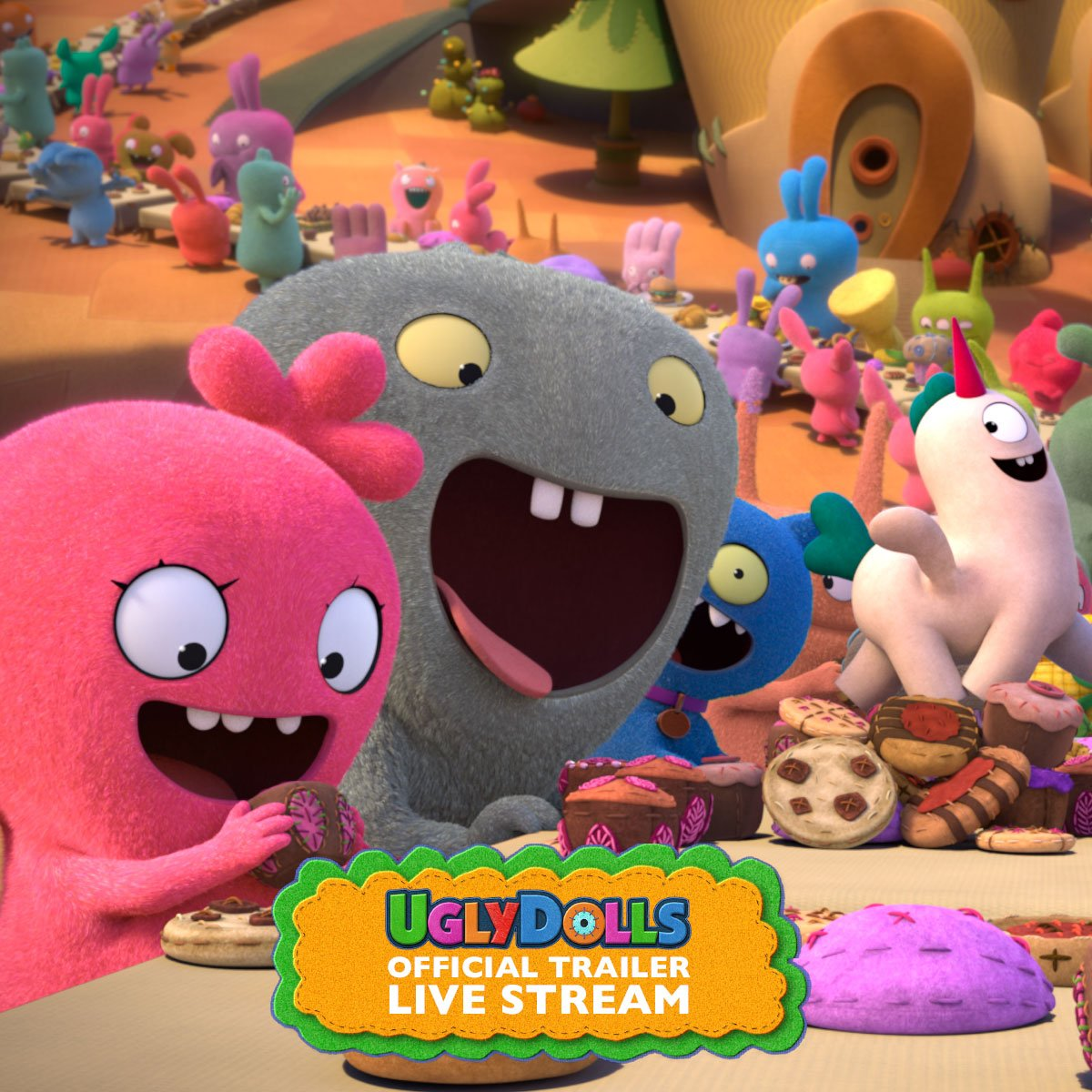 And sew it begins! Watch the official trailer for @UglyDolls - in theaters May 2019. #UglyDollsMovie https://t.co/Gfq0qLiXyG