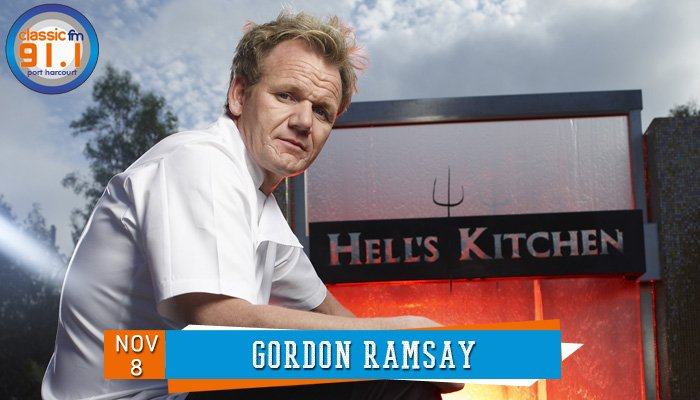 Happy birthday to celebrity chef, Gordon Ramsay.