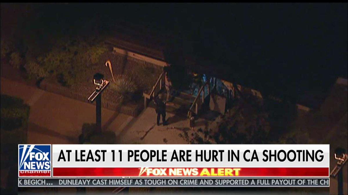 UPDATE: At least 11 people hurt in California shooting @FoxFriendsFirst