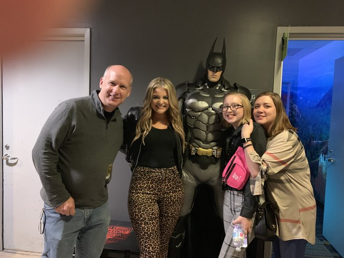 Hey - happy birthday from me, the family, and Batman!