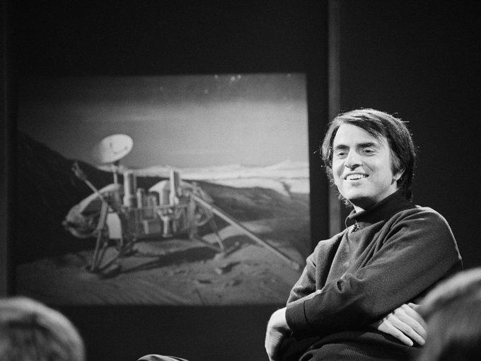 "\""Come with me\""  -Carl Sagan Happy birthday"