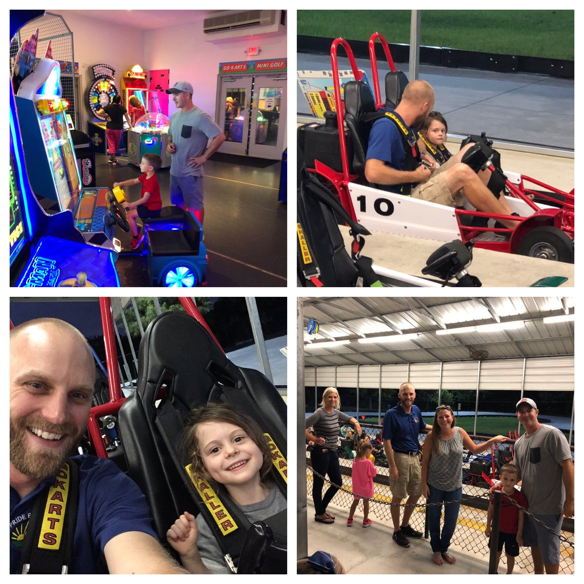 test Twitter Media - @Proud2BeAtPride Spirit Night was a BLAST 💥!  Thanks @Cooperdad121712 @_Coach_Rice_ @MichelleMara6 @AmyDrummond9 and the entire Pride family for participating.... special shout out to Coach Rice for taking my little London on the go-cart track 💪!  Glad you survived 😳😂! https://t.co/ZciwSPWmEc
