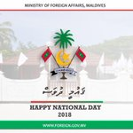 RT @MDVForeign: Greetings and best wishes on the occasion of Maldives National Day! https://t.co/UTrMJKqa1F