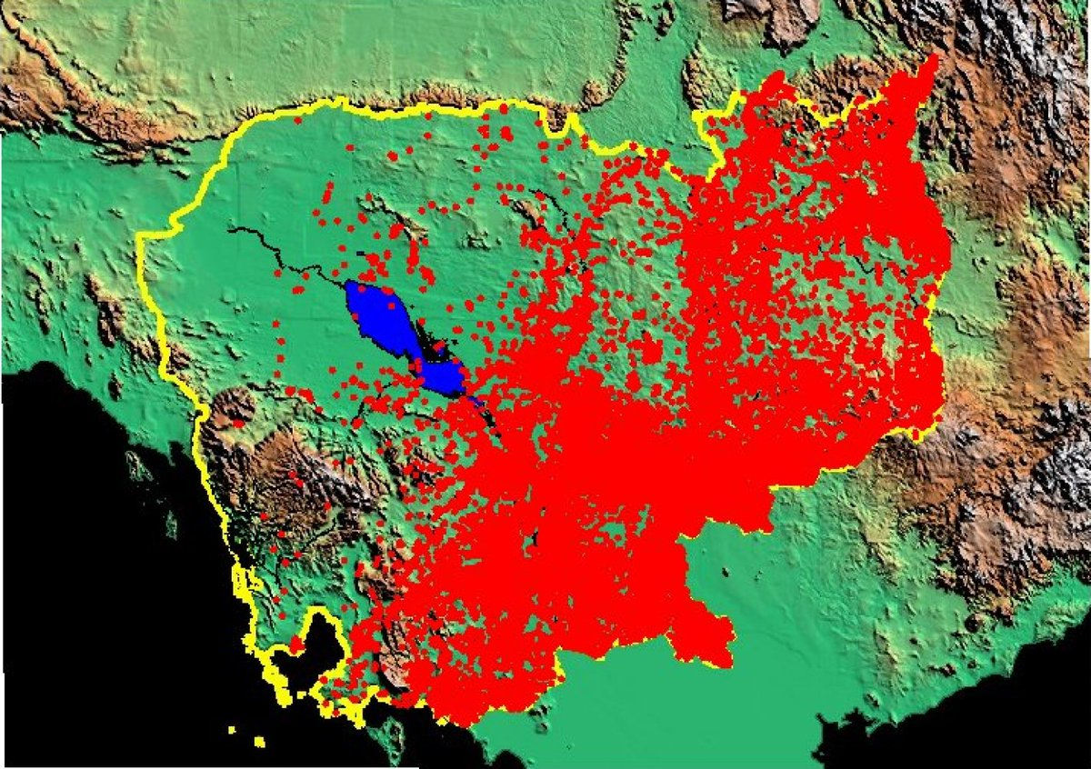 RT @zeneraalstuff: Each red dot represents a village bombed by USAF in Cambodia from May 1969 to March 1970 https://t.co/3kX8H2U7Bt