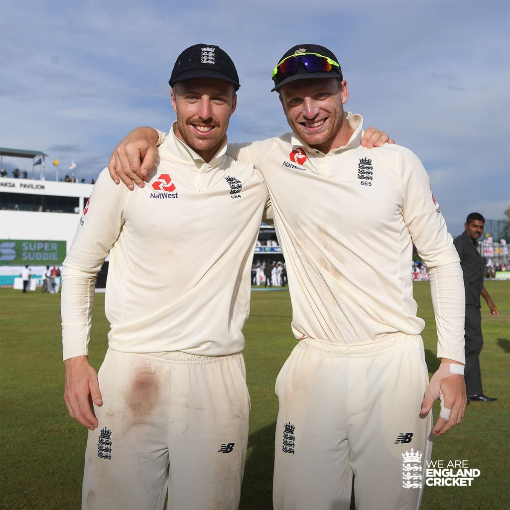 Got a mate you've played with since you were kids? ??  Scorecard: https://t.co/xBf8D86QK9  #SLvENG https://t.co/0KoxobNQWo