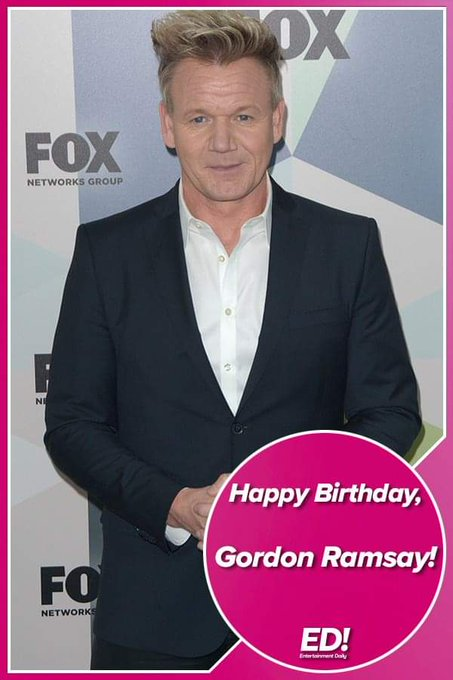 Happy 52nd birthday Gordon Ramsay!