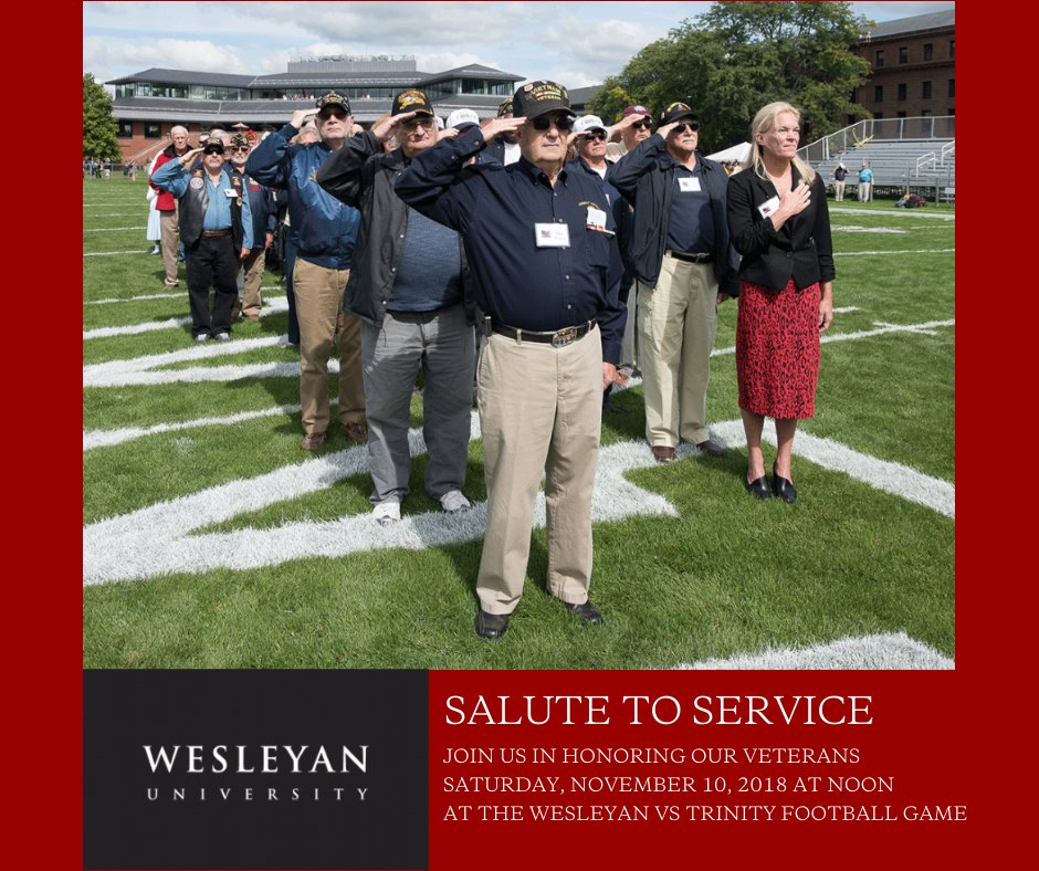 test Twitter Media - TOMORROW: All are welcome to join the Wes community in our annual #SaluteToService as we honor local #veterans as well as students, faculty, staff, alumni and parents who have served before the kickoff at the @Wes_Athletics  vs Trinity football game. https://t.co/UNrNoLEY3q