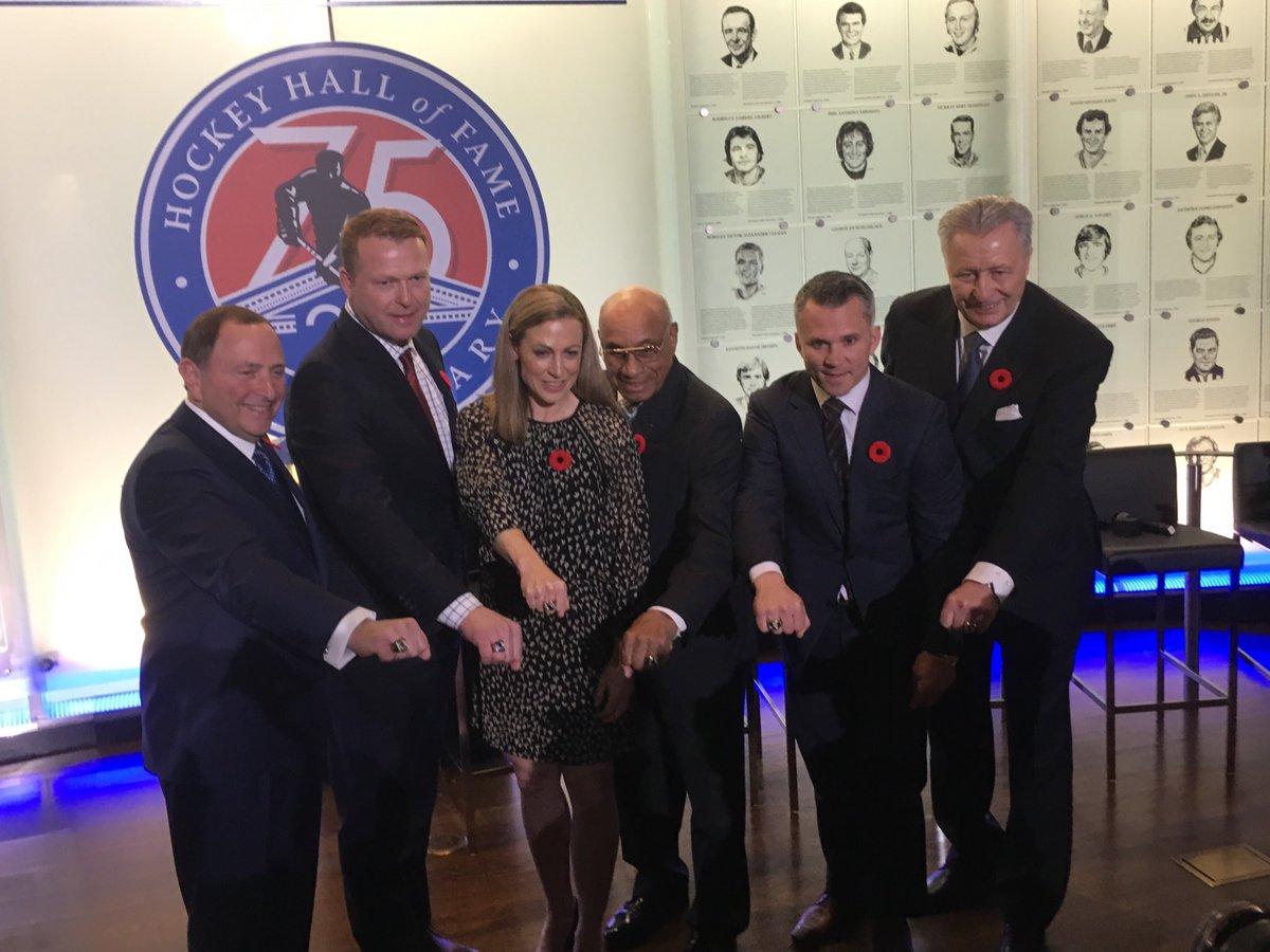 Hockey Hall The Hockey Hall Of Fame Class Of 2018 Gary Bettman